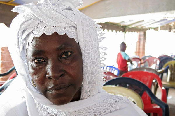 Hadja Bintou Conte, a mother-of-five who dyes textiles for her living, tells her neighbors that Ebola is definitely real. But they're not always ready to agree.<strong> </strong>