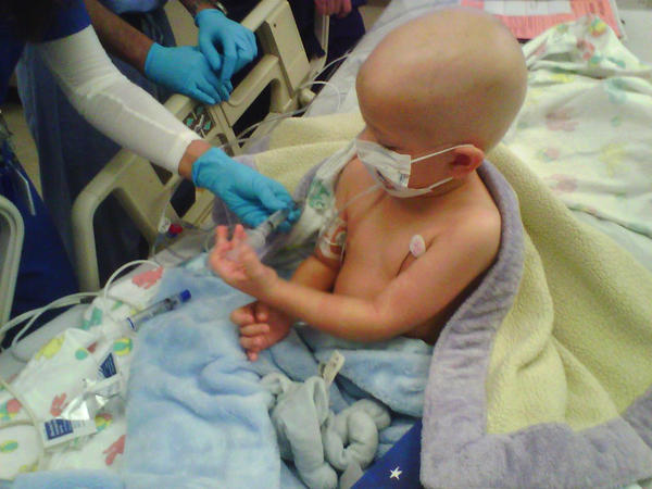 Rhett, just weeks after starting chemotherapy in 2010.