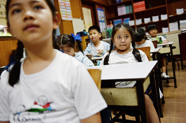 Girl students in Bangkok tend to do better than boys. That's the finding of a new study.