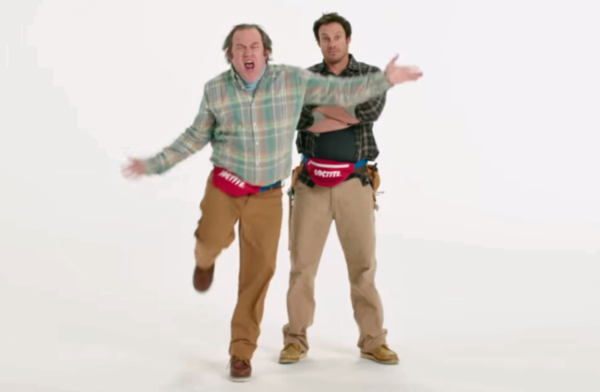 The Super Bowl ad from the glue maker Loctite involves people dancing with fanny packs. (YouTube)