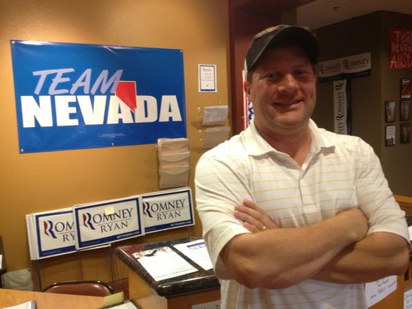 """We've got a shot,"" says Romney Nevada state manager Chris Carr, shown here in Las Vegas."