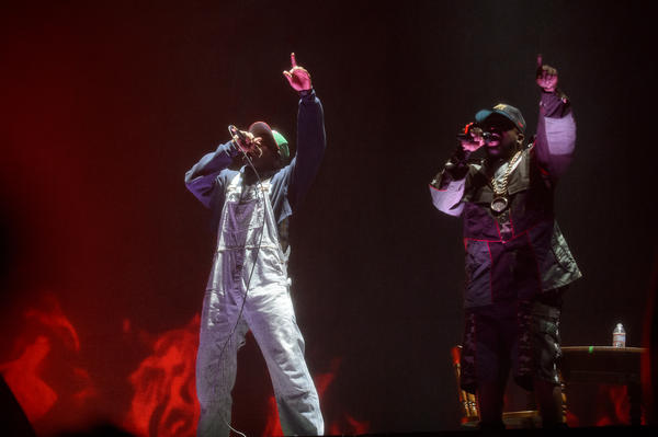 Andre 3000 (left) and Big Boi at Coachella.