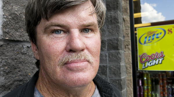 Tom Barrett returned to the convenience store where he stole a can of beer. He spent time in jail, not for the crime, but because he couldn't afford the fines and fees that went along with wearing an electronic monitoring device.