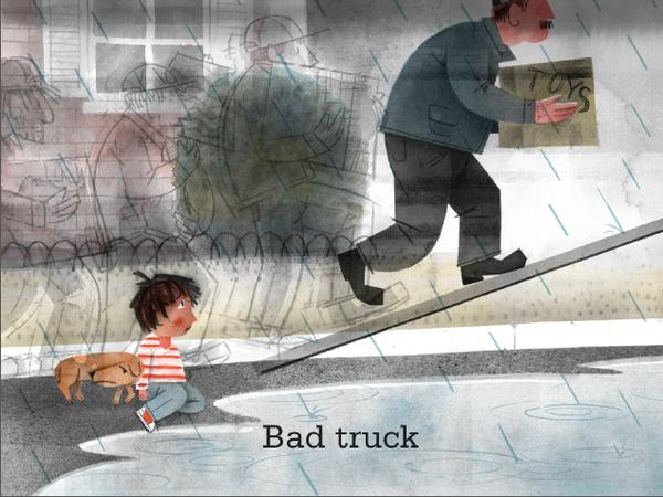 <em>Excerpted from </em>Bad Bye, Good Bye <em>by Deborah Underwood, illustrated by Jonathan Bean. Text copyright 2014 by <em>Deborah Underwood</em>. Illustrations copyright 2014 by <em>Jonathan Bean</em>. Excerpted by permission of Houghton Mifflin Harcourt Publishing Company.</em>