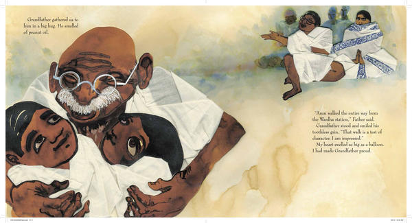 <em>Excerpted from </em>Grandfather Gandhi <em>by</em><em> Arun Gandhi and Bethany Hegedus, illustrated by Evan Turk</em><em>. Text copyright 2014 by</em><em> Arun Gandhi and Bethany Hegedus</em><em>. Illustrations copyright by Evan Turk. Excerpted by permission of</em><em> Atheneum Books For Young Readers</em><em>, an imprint of Simon & Schuster Children's Publishing Division.</em>