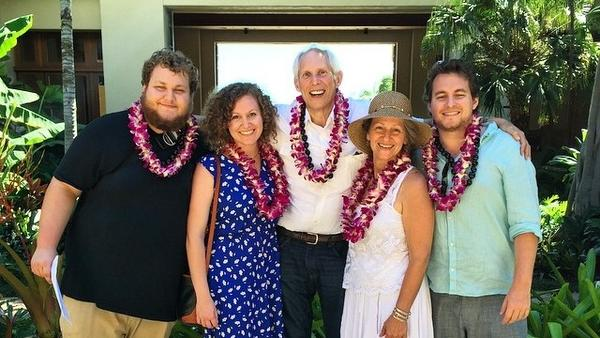 "The Schwimmers — from left, Scott, Caitlyn, Robert, Cynthia and Jon — have grappled with Robert's fatal diagnosis, and his desire to hasten death if he's in agonizing pain or his quality of life sharply declines. ""I'm not interested in sleeping 18 hours a day and the other six in a rocking chair,"" Robert says."