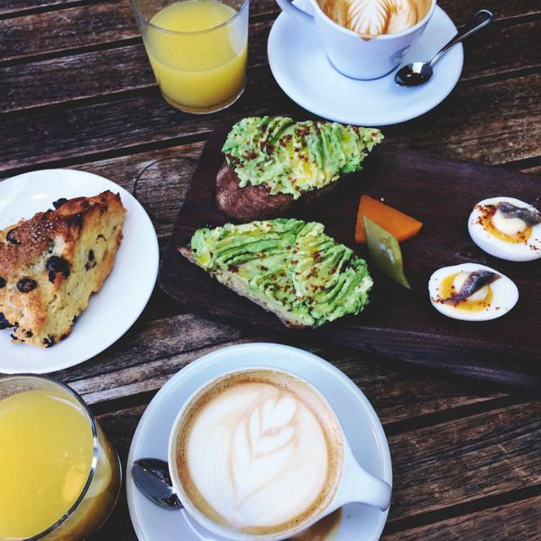 Kathy Gunst's avocado toast is part of this California breakfast. (Kathy Gunst)