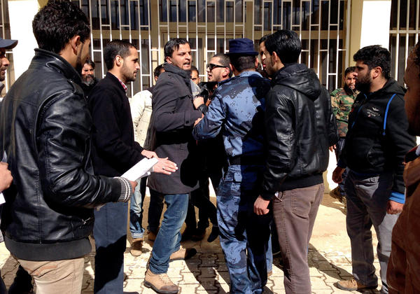 Demonstrators attempted to storm the headquarters of Libyan Prime Minister Abdullah al-Thinni last month to demand the dismantling of his government, which has been able to provide few services.