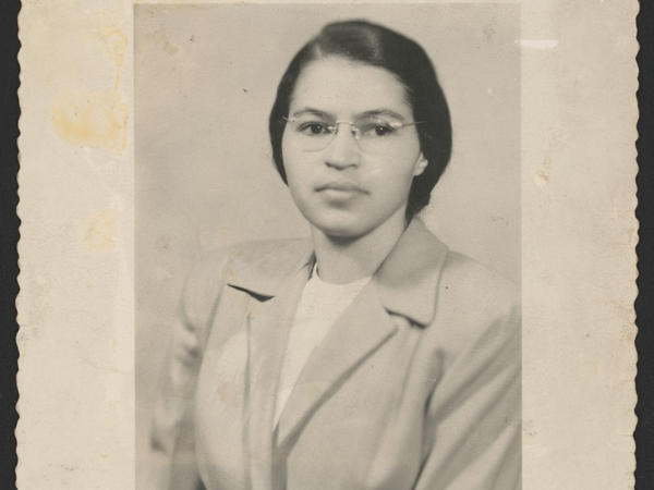 "Rosa Parks, shown here in a photo from 1950, is famous as a ""quiet seamstress"" who refused to give up her bus seat — but a newly-available set of papers reveals a more animated voice, says an archives specialist working with the documents."