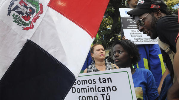 "Thousands of Dominicans, mostly those of Haitian descent, were stripped of their citizenship last week. Those affected, including during this 2013 protest, say ""We are as Dominican as you."""