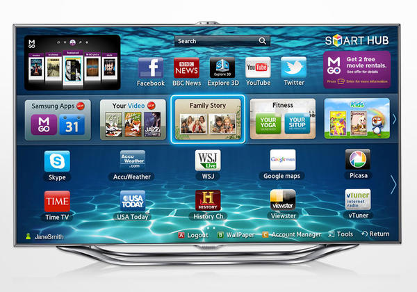 Consumers are suspicious of the new Samsung smart TV's voice recording capability. (PRNewsFoto/M-GO/AP)