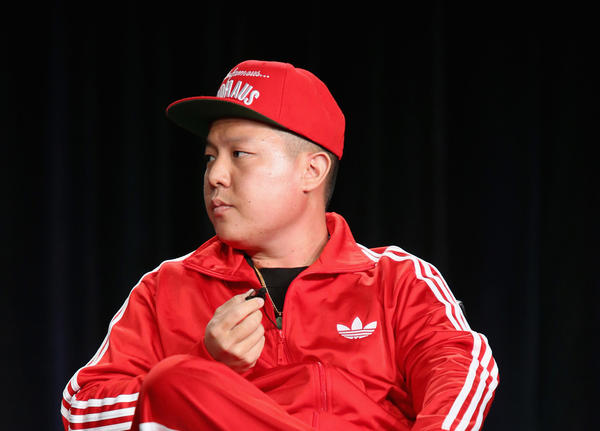 Producer Eddie Huang speaks onstage during the 'Fresh Off the Boat' panel at the Disney/ABC Television Group portion of the 2015 Winter Television Critics Association press tour at the Langham Hotel on January 14, 2015 in Pasadena, California.  (Frederick M. Brown/Getty Images)
