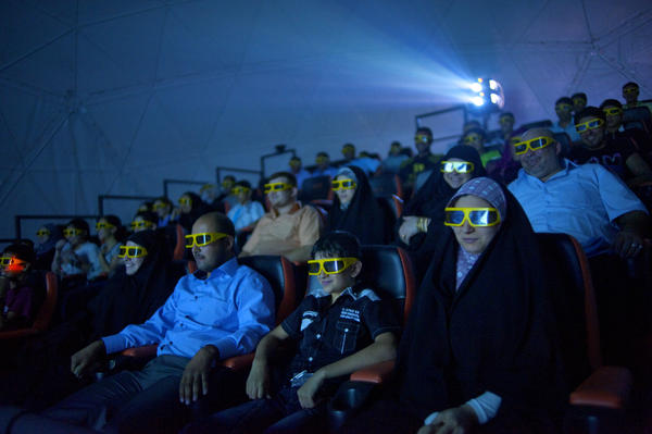 In 2010, Baghdad moviegoers get an extra thrill from shaking seats and wind machines during a 3-D sci-fi film at Baghdad's first 4-D cinema. During the worst years of violence, families stayed home to attach TV or DVDs. Most cinemas closed, as did this one.