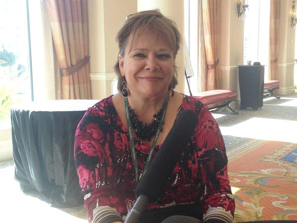 Maria Teresa, from Lutz, helps organize dinners and outings for widowed people in Tampa Bay.