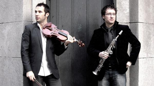 The Fretful Porcupine is Jake Armerding (strings) and Kevin Gosa (saxophones). (thefretfulporcupine.com)