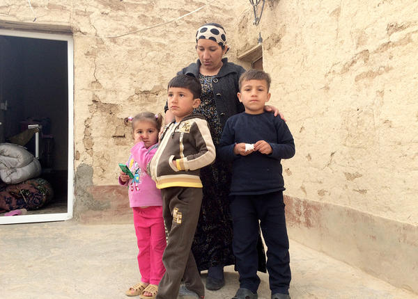 Wedat Kasim and her family stayed on Mount Sinjar through the long siege, from August until December.