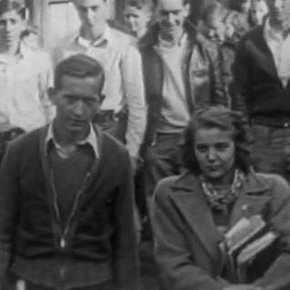 From <em>Dante, Va., 1940</em>. The couple in the foreground is believed to be the Penlands, while they were in high school.