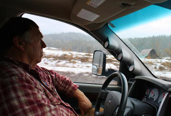 Cliff Irish drives Highway 57, one of the roads the state has put weight restrictions on in north Idaho because of cracks in bridges.