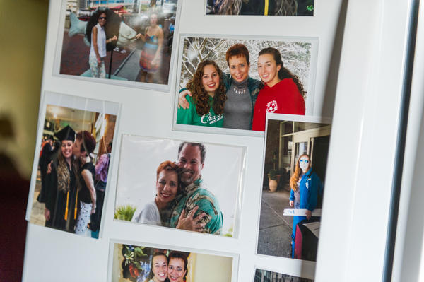 Photographs of Cawthorn — before she was injured — are displayed on her refrigerator.