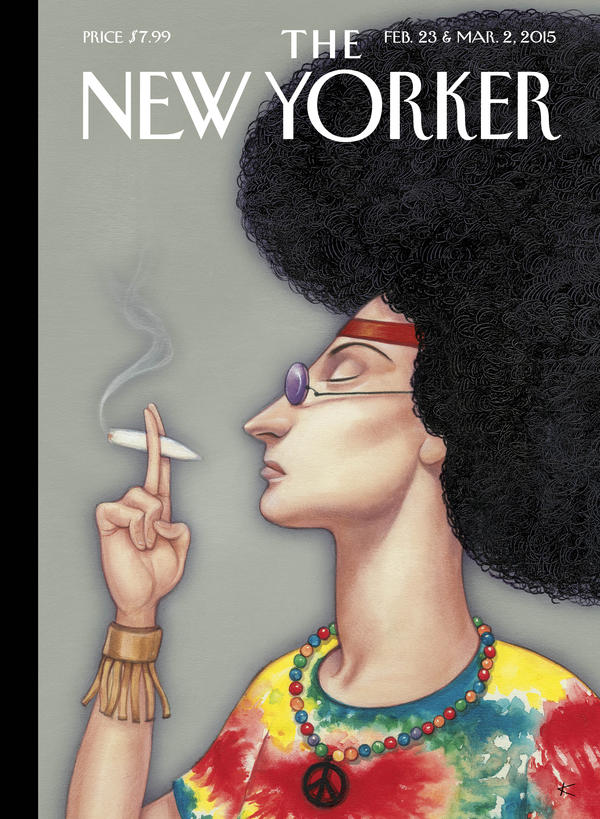 This week,<em> The New Yorker</em> magazine is marking its 90th anniversary with a special edition. It's running nine covers by nine of its most celebrated artists. This one is by Anita Kunz.