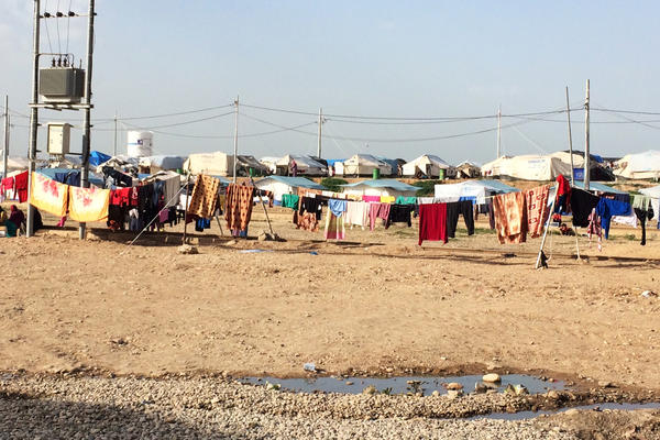 Only a tiny fraction of the people at Baharka camp who need counseling and other help are receiving it.