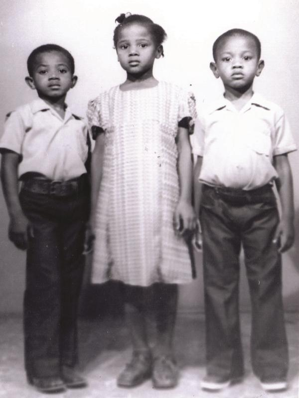 Writer Edwidge Danticat at around 10 years-old with her brother Bob and cousin Nick in Haiti. She joined her parents in the U.S. a couple of years later. She describes it as a tough landing.