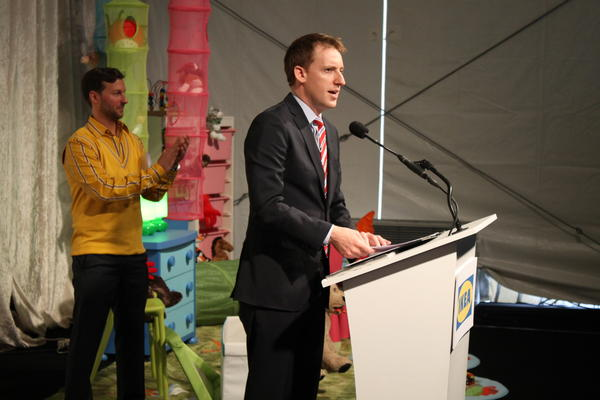 Secretary of State Jason Kander at an event in St. Louis last year. Kander announced Thursday he will run for the U.S. Senate.