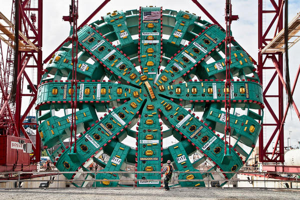 File photo of Bertha's 57.5-foot-diameter cutterhead.