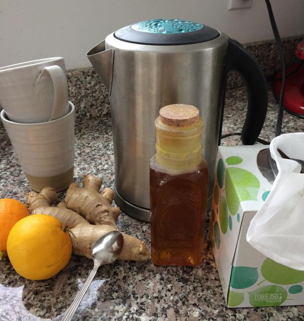 Hot Ginger-Lemon-Honey Tea takes the edge of any cold or flu. (Kathy Gunst)