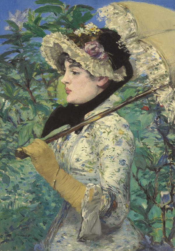 <em>Spring,</em> Manet's 1881 painting of actress Jeanne Demarsy, was recently sold to the J. Paul Getty Museum for $65 million.