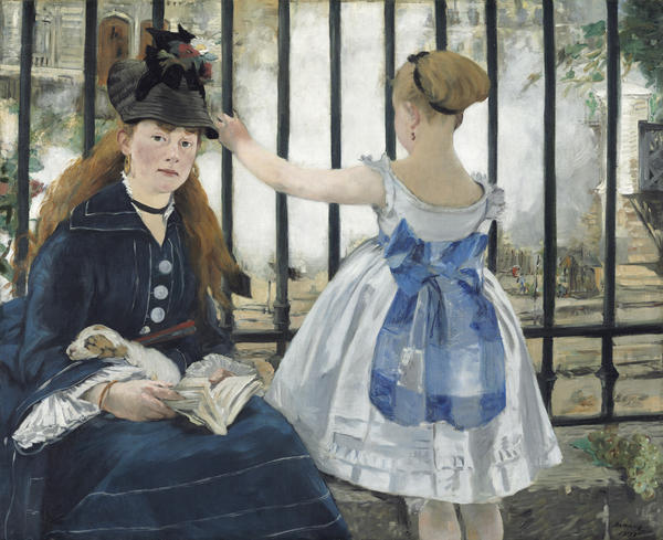 "Edouard Manet's 1873 oil on canvas, <em>The Railway,</em> is on view <a href=""http://www.nortonsimon.org/manet-s-the-railway-on-loan-from-the-national-gallery-of-art-washington"" target=""_blank"">at the Norton Simon Museum</a> in Los Angeles until March 2. It is on loan from the National Gallery of Art in Washington, D.C."