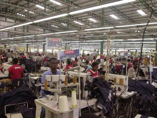Inside a Haitian factory. August, 2007.