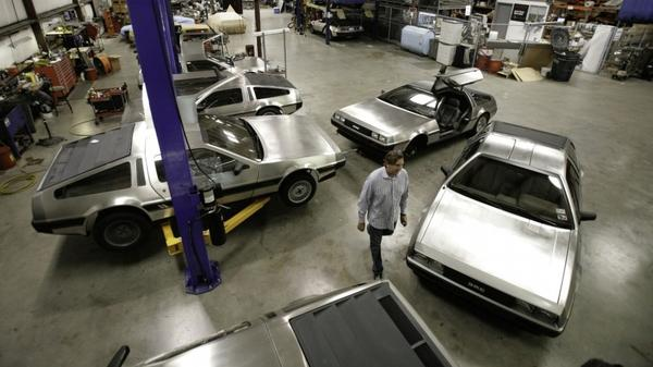 <p>Stephen Wynne walks through the shop at the DeLorean Motor Company in Humble, Texas, in 2007. Wynne purchased all remaining factory parts of the DeLorean line — enough for several hundred cars. </p>