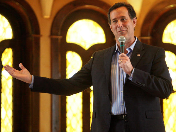 Republican presidential candidate Rick Santorum in McKinney, Texas, on Wednesday.