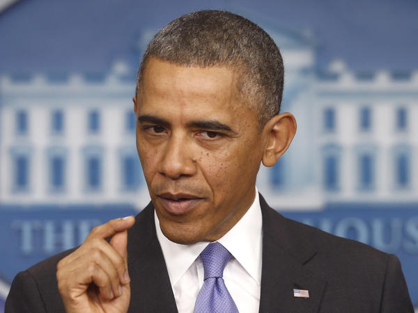 President Obama speaks about his signature health care law Thursday at the White House.