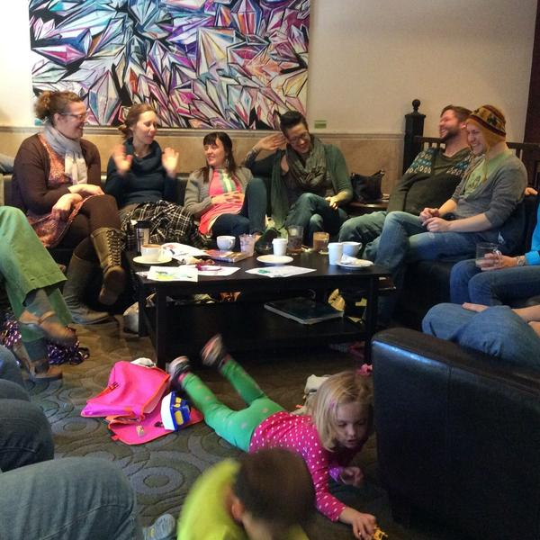 "Members of the church meet at Denver coffeehouses during the week for what they call ""office hours"" --€"" informal and often highly irreverent chats."