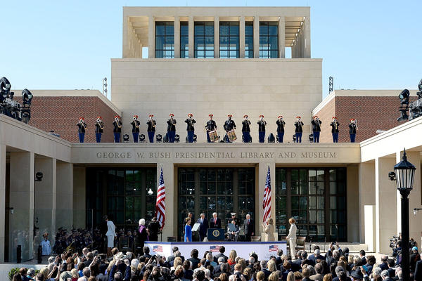 Presidents past and present were on hand for the opening ceremony for the George W. Bush Presidential Library and Museum in Dallas in April 2013.