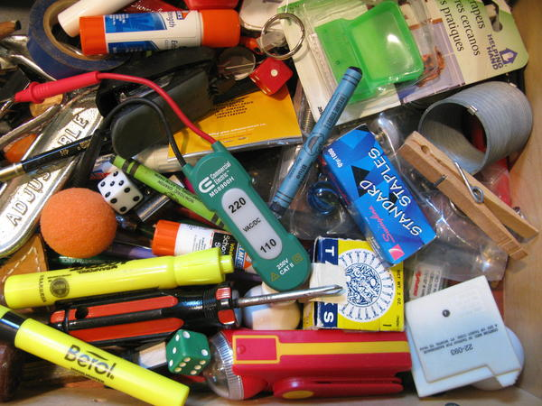 The author's household junk drawer.