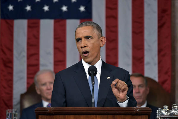 President Obama delivers his State of the Union address to a joint session of Congress in Washington on Tuesday.