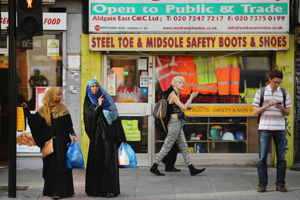 Some 2.7 million Muslims live in Great Britain. In many cities, though, ethnic neighborhoods are more of a patchwork, rather than a melting pot.