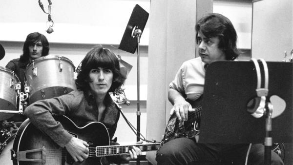 George Harrison and Joe Osborn in <em>The Wrecking Crew</em>.