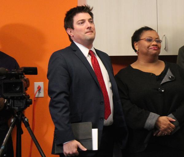 John Shaw, left, resigned on Tuesday as Ferguson's city manager.