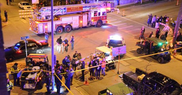 The aftermath of last year's crash during SXSW, which left four people dead.