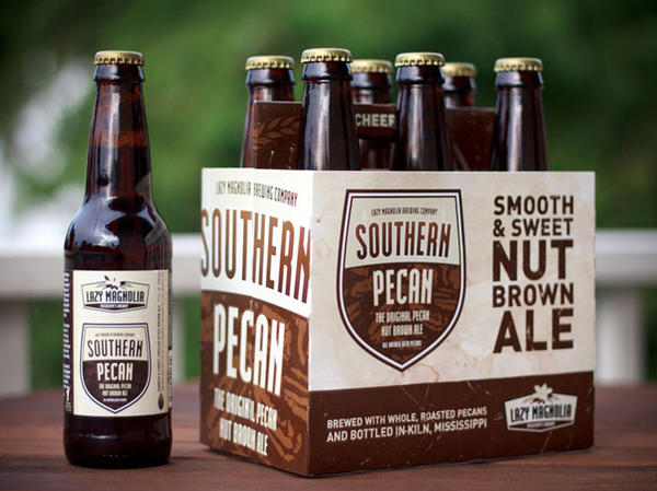 Lazy Magnolia's Southern Pecan Brown Ale is produced in Kiln, Miss.
