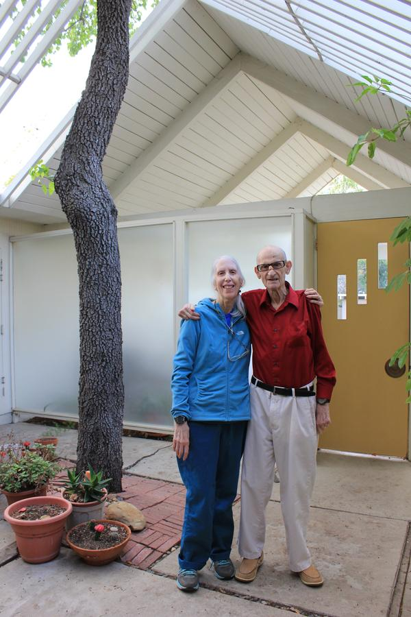 Lyla and Bernie Grossman bought their Eichler home for $30,000 in 1963.
