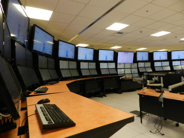 <p>The control room simulator at NuScale Power.</p>