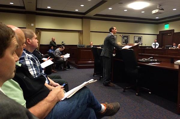 The NRA's Dakota Moore speaks to the Idaho House State Affairs Committee.