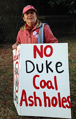 Local residents in Lee County are protesting the plan to put a coal-ash landfill in their community.
