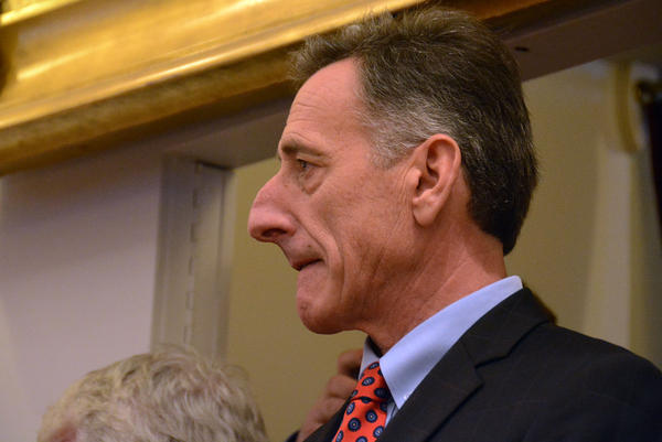 Gov. Peter Shumlin, shown here at his inauguration on Jan. 8, says the state will abandon Vermont Health Connect for the federal health care exchange if the system fails to meet certain benchmarks by the end of May.