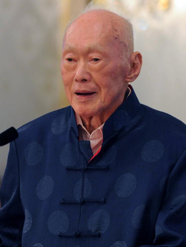 Lee Kuan Yew is seen in this photograph taken Aug. 6, 2013, at the Istana Presidential Palace in Singapore during an event to mark the launch of his book on international affairs.